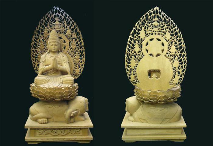 普賢菩薩の木彫仏像を販売してお...