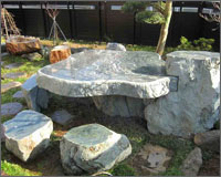 石テーブル